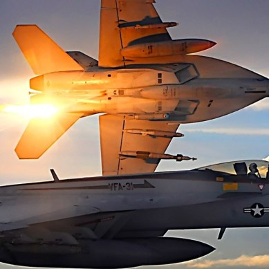Watch the F/A-18 release swarms of autonomous drones into the sky