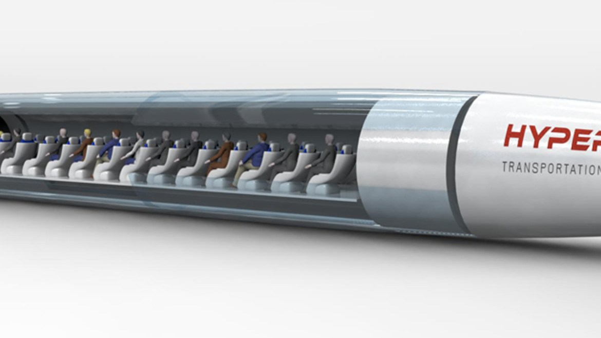 HTT shows off its concept Hyperloop passenger pod