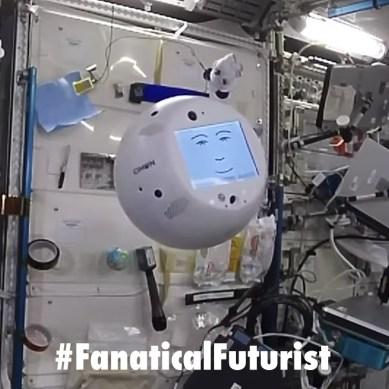 NASA's ISS robot companion CIMON gets caught copping an attitude