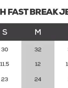 Youth fast break jersey guide sizes also nba size chart rh fanatics