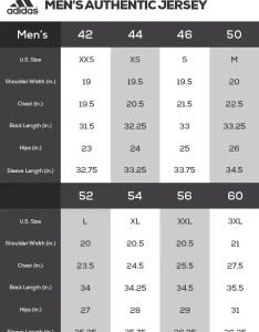 Men   adidas authentic sizing breakaway chart women size also nhl jersey fanatics rh