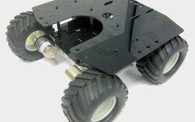 Telaio Robot Rover A4WD2 pronto per i tuoi progetti.