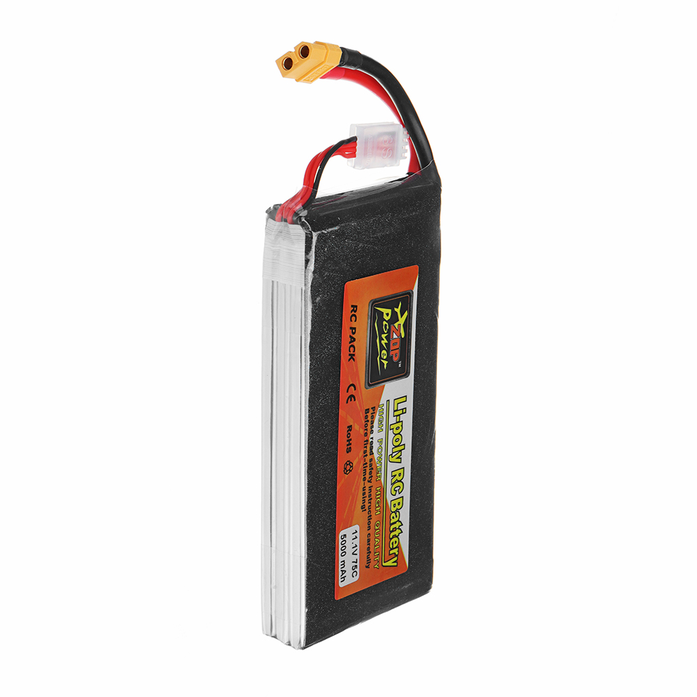 ZOP Power Batteria Lipo 11,1V 5000mAh 75C 3S connettore XT60