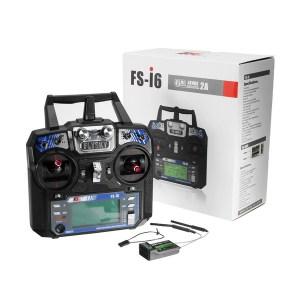 Trasmettitore_radio_FlySky_FS-i6_Ricevitore_FS-iA6B