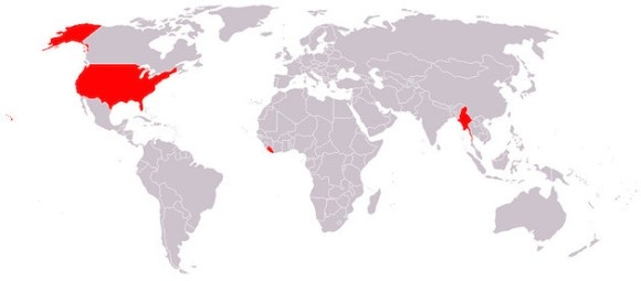 countries not using metric system