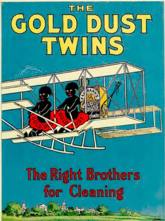 racist gold dust twins ad
