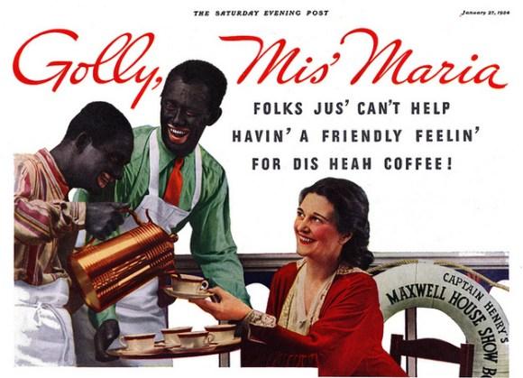 racist maxwell house ad
