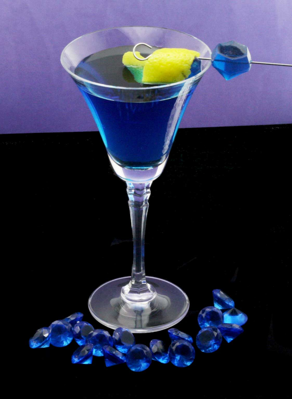 Blue cocktail  Sapphire Sky - Sapphire Blue Martini - Fancy As Fuck