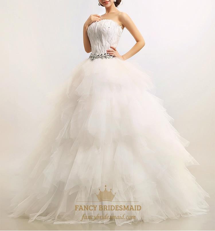 Feather Wedding Dress Corset Wedding Dresses With