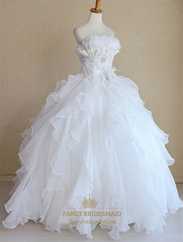 Snow White Princess Wedding Dresses Bridal Gowns For Winter Wedding  Fancy Bridesmaid Dresses