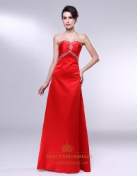 Red Halter Satin Long Bridesmaid Dress - Bridesmaid ...