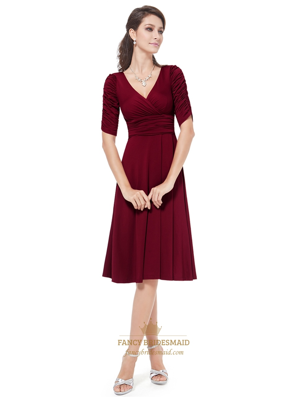 Fit And Flare Dress Knee Length