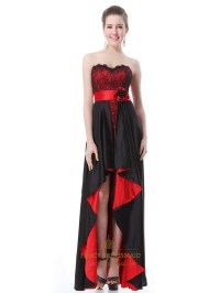 Black And Red High Low Prom Dresses,Red And Black High Low ...