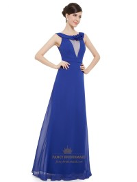Sapphire Blue Bridesmaid Dress - Tinyteens Pics