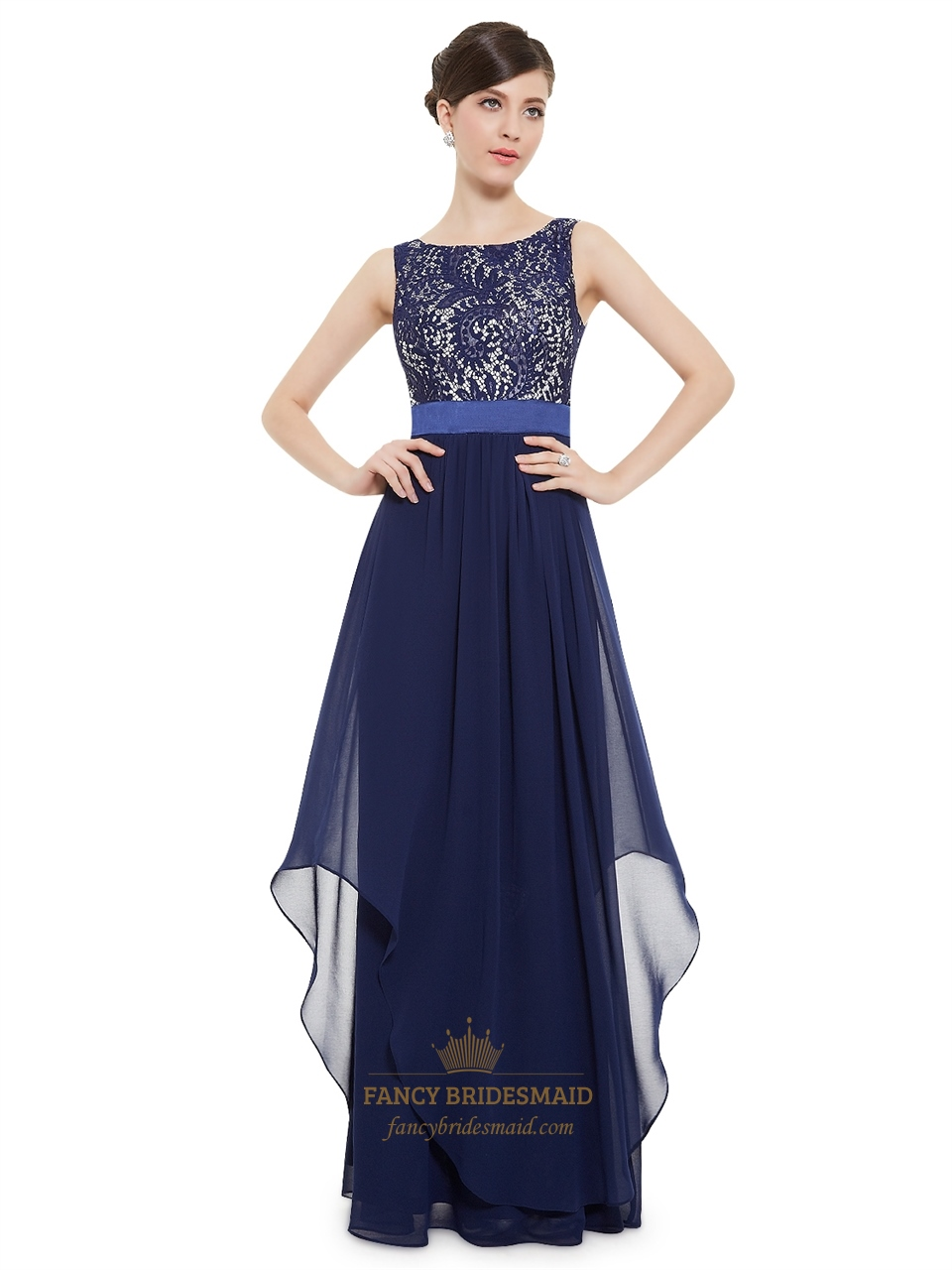 Bridesmaid Dresses Navy Blue Lace