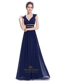 Navy Blue Chiffon Bridesmaid Dress | www.imgkid.com - The ...