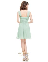Sage Green Short Sweetheart Chiffon Bridesmaid Dress With ...