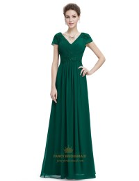 Emerald Green Chiffon Bridesmaid Dresses