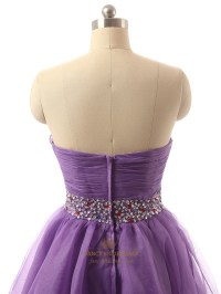 Lavender Short Tulle Pleated Bodice Bridesmaid Dress With ...