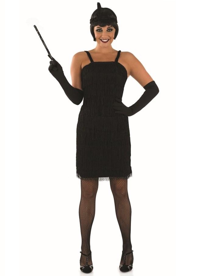 Adult 20s Roaring Black Flapper Costume - FS2400 - Fancy ...