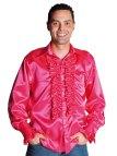 Pink Satin Dress Shirts Men