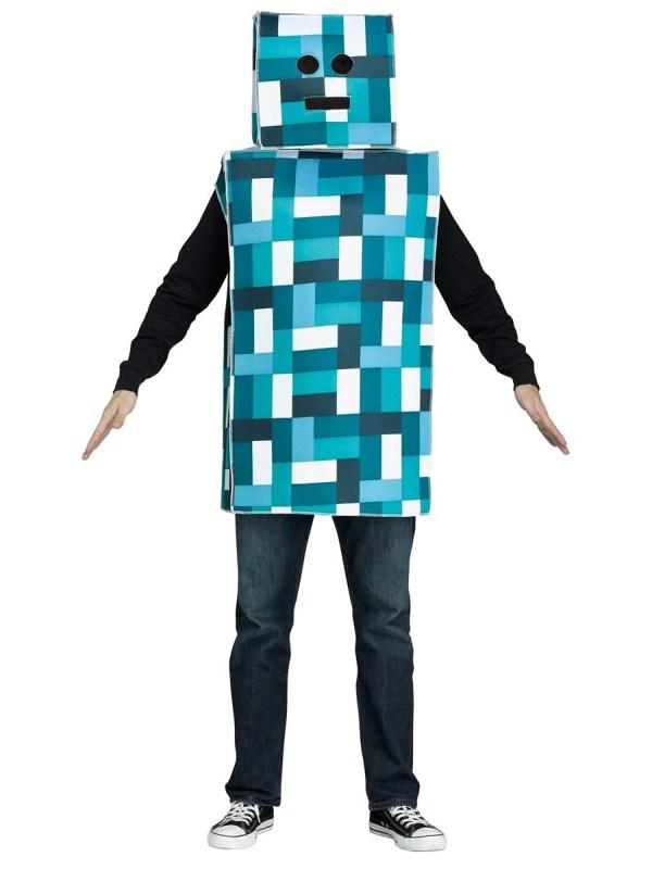 Adult Blue Pixel Robot Costume - 3132a Fancy Dress Ball