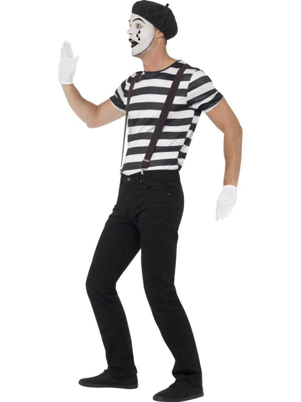 Adult Gentleman Mime Artist Costume - 24596 Fancy Dress Ball