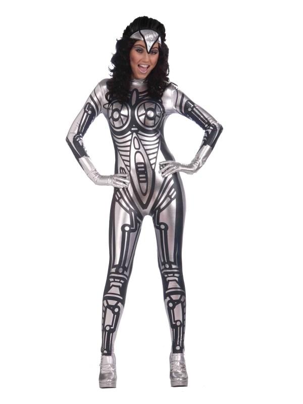 Adult Ladies Robot Jumpsuit Costume - Ac286 Fancy Dress Ball