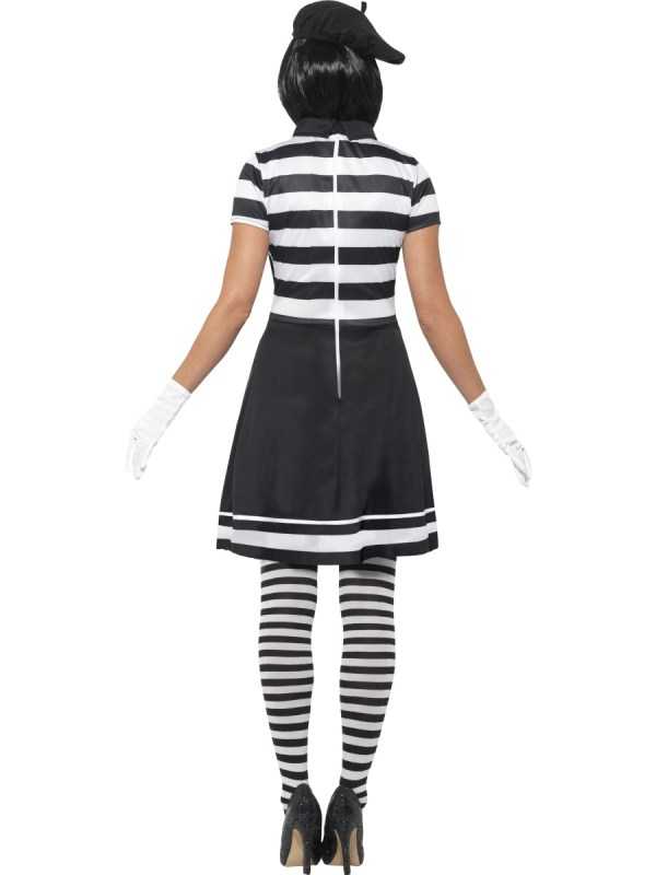 Adult Lady Mime Artist Costume - 24627 Fancy Dress Ball