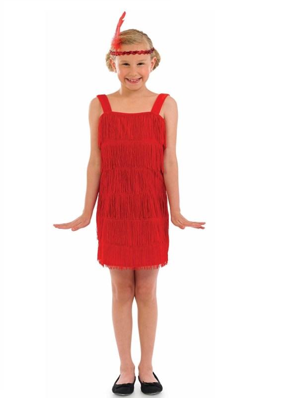 Child Red Flapper Costume - Fs3601 Fancy Dress Ball