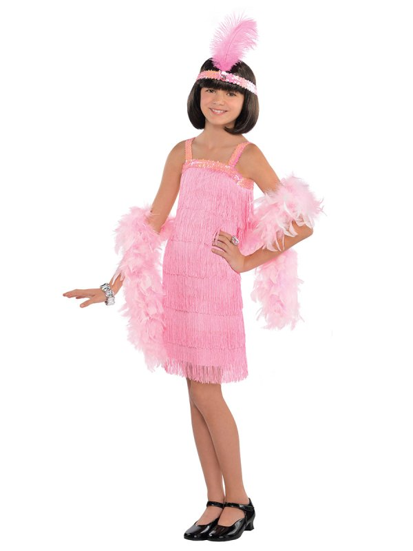 Child Pink Flapper Costume - 9902079 Fancy Dress Ball