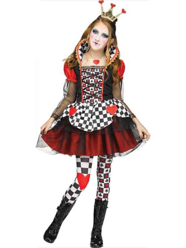 Child Queen Of Hearts Costume - 3647a Fancy Dress Ball