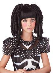 childrens black baby doll curls