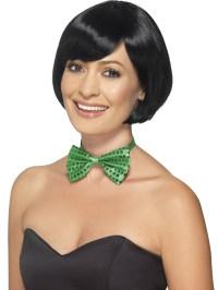 Green Sequin Bow Tie - 44707 - Fancy Dress Ball