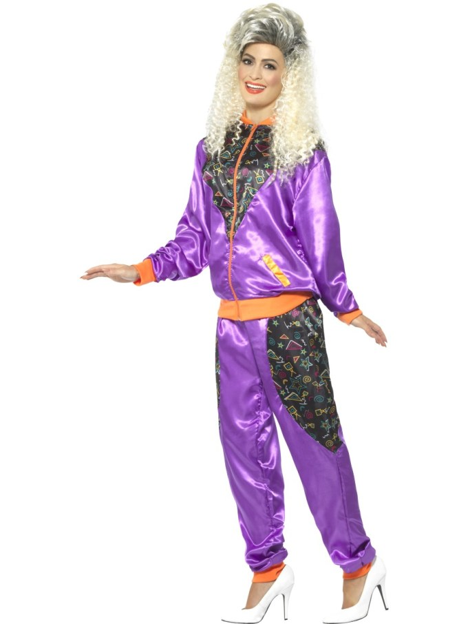 Ladies Retro Shell Suit Costume - 43080 - Fancy Dress Ball