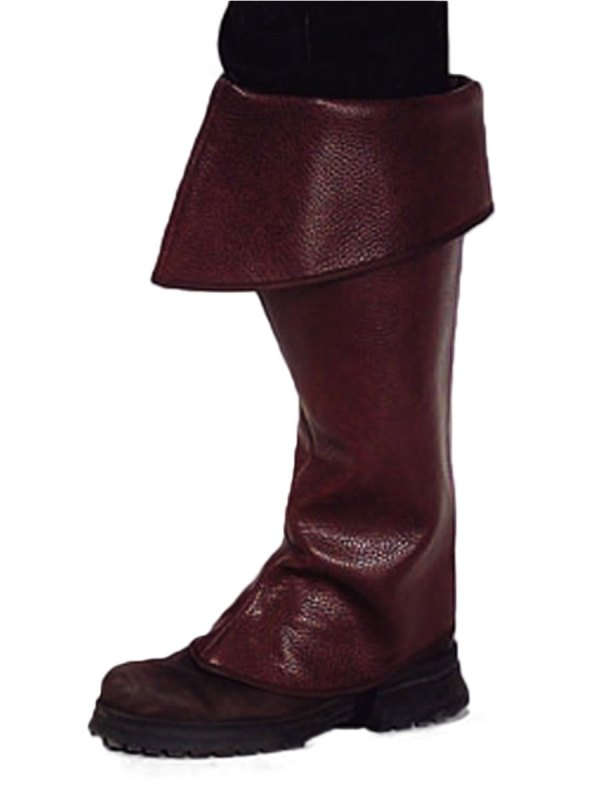 Premium Pirate Brown Boot Covers - 202309 Fancy Dress Ball