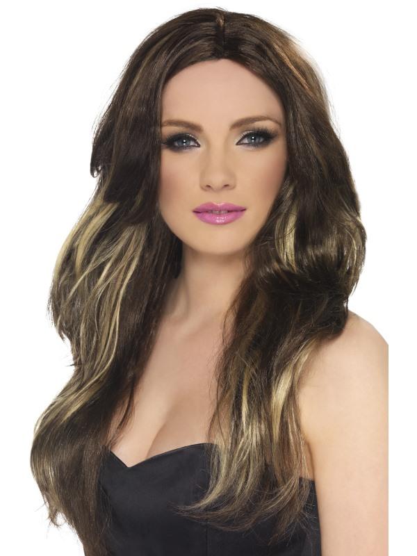 Temptress Long Brown Wig 42293 Fancy Dress Ball