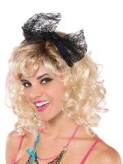 adult 80s lace headband - 843515