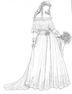 Historical Bride paper dolls: 1920's, 1930's, 1940's, 1950