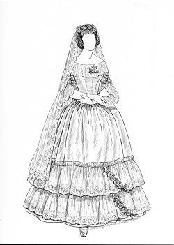 Paper Dolls, Vintage Brides Series: 1820's, 1830's, 1840's