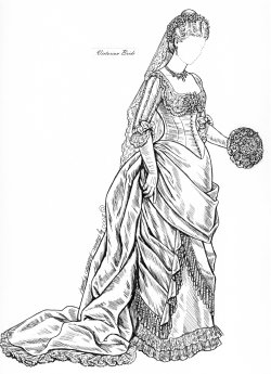 Paper Dolls Brides Archive, Wacky Wedding Gowns, Orange