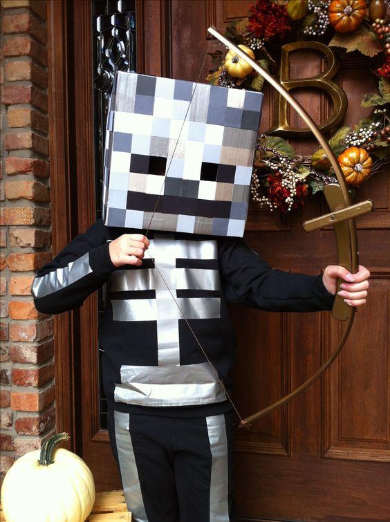 Homemade Minecraft skeleton costume idea & Homemade Minecraft skeleton costume idea ? Childrenu0027s costumes ...