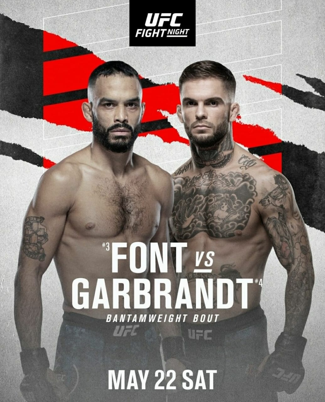 2021 UFC Fight Night | Ultimate Fighting Championship Font vs Garbrandt