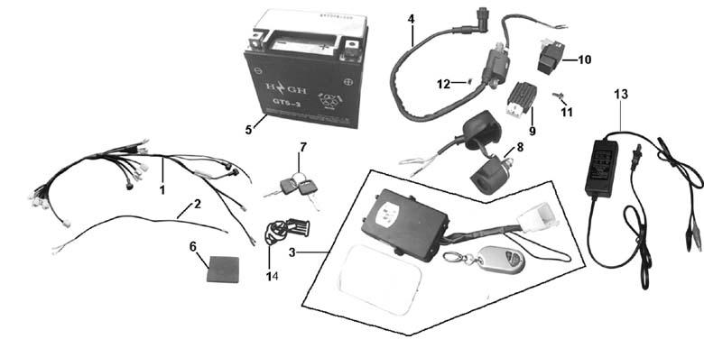 Baja 49cc 2 Stroke Gas Engine Parts Diagram, Baja, Free