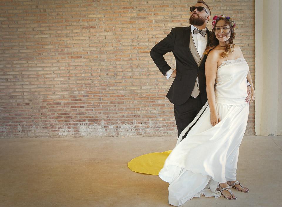 46 pareja de novios en la boda al revés