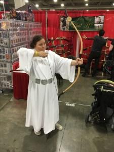 Princess Leia with a Merida Bow