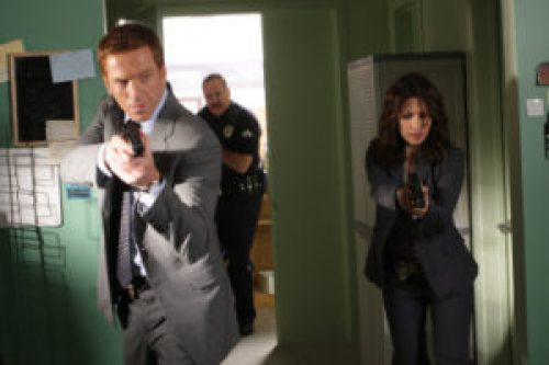 """LIFE -- """"Find Your Happy Place"""" Episode 201 -- Pictured: (l-r) Damian Lewis as Charlie Crews, Brent Sexton as Bobby Stark, Sarah Shahi as Dani Reese -- NBC Photo: Byron Cohen"""