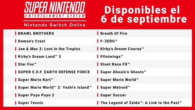 super nes switch online