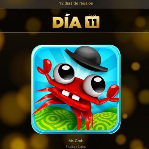 El videojuego de los #12DíasDeRegalos de hoy es #MrCrab de #IllusionLabs
