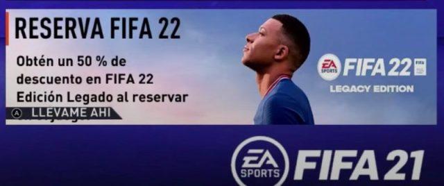 FIFA 22 Switch descuento